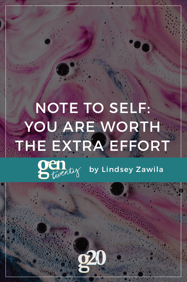 What if we treated ourselves like we treat other people? What if we gave ourselves the same respect, love, and extra effort? You're worth it.