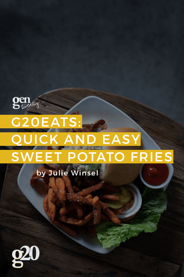 Quick easy and delicious -- what more could you want from sweet potato fries?!