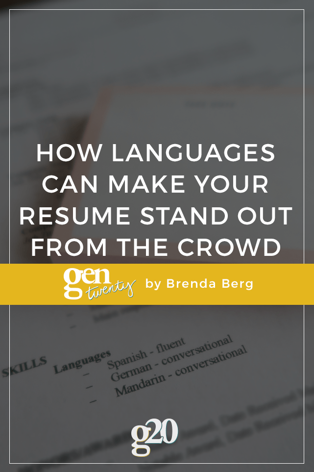 How Languages Can Make Your Resume Stand Out