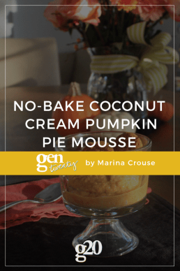 G20Eats: No-Bake Coconut Cream Pumpkin Pie Mousse