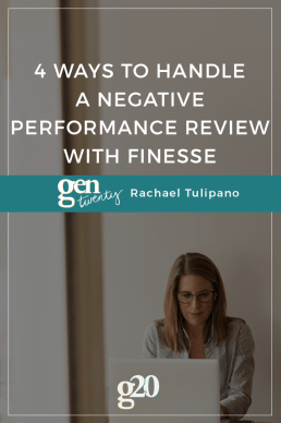 4 Ways to Handle a Negative Performance Review