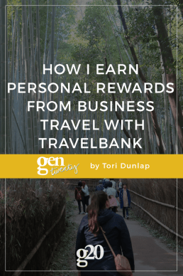 How I Earn Personal Rewards from Business Travel with TravelBank