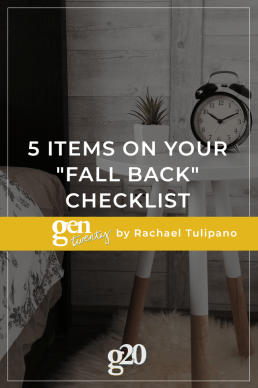 "5 Items On Your ""Fall Back"" Checklist"