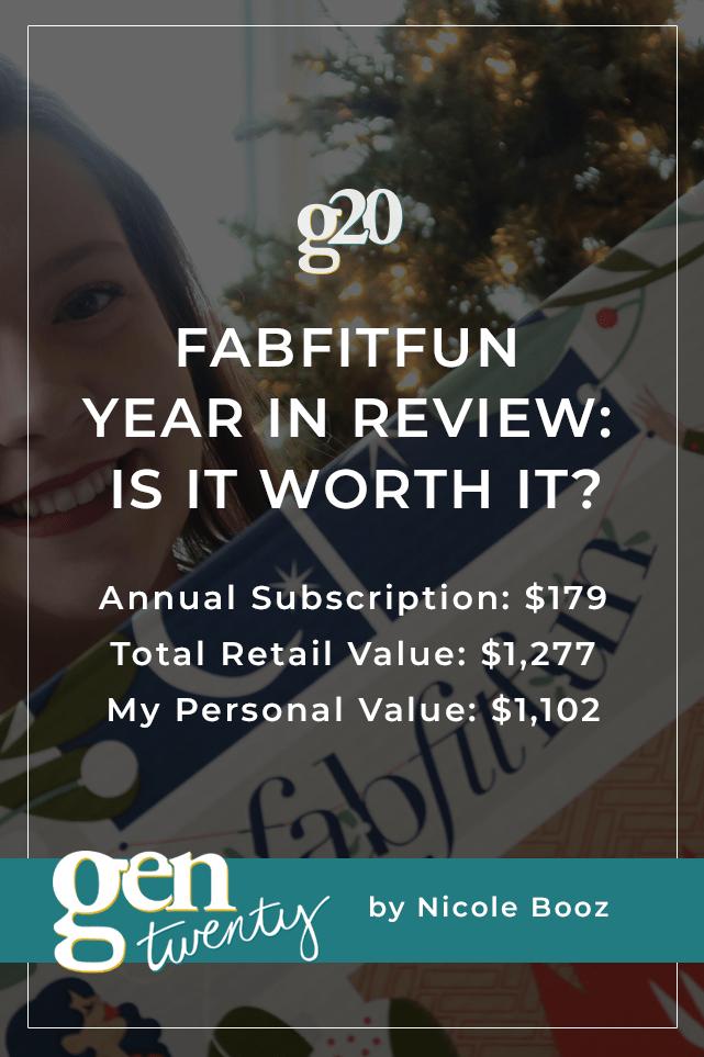 FabFitFun Year In Review: Is It Worth It?