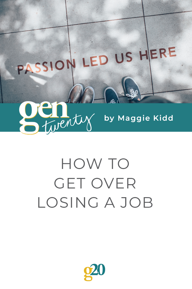 how to get over losing a job