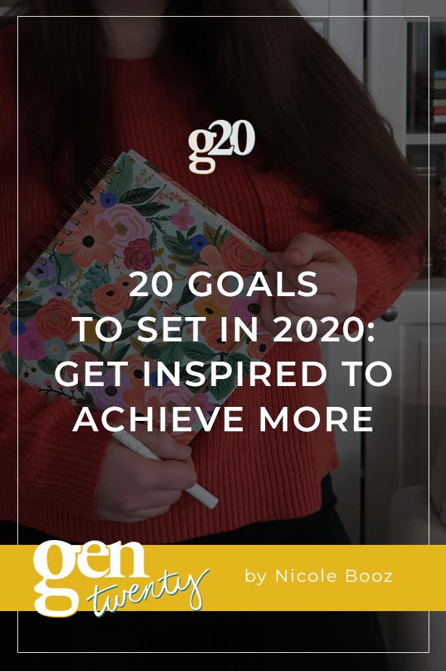 Goals To Set In 2020