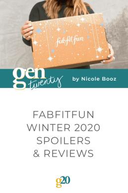 FabFitFunWinter 2020 Spoilers, Reveal and Reviews