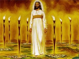 Jesus among seven lamp stands