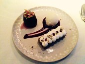 French black fig with pistachio cake and fromage blanc sorbet