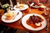Roast Yorkshire Grouse with Smoked Celeriac, Rainbow Chard, Bread Sauce, Roasting Jus