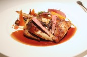 Roast squab pigeon with Girolles & Salsify