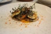 Scallop, clementine, chestnut & trompette mushroom