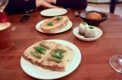 Selection of Snacks - Rabbits on Toast, Lincolnshire Poacher 'Welsh Rarebit', Scotch Egg, Rollmops