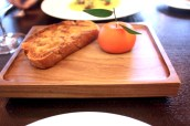 Meat Fruit (c.1500) - Mandarin, chicken liver parfait & grilled bread