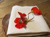 Nasturtium flower, oyster mayonnaise