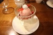 Rhubarb & Pomegranate Falooda (vermicelli, basil seeds, rose and white chocolate kulfi)