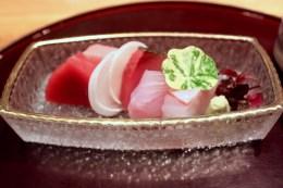 Selection of Fish of the Day - Akami, Otoro, Bonito, Hamachi, Stone Bass