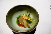 Braised octopus, sesame, miso and coriander