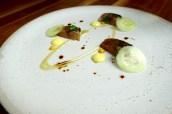 Flame Cornish Mackerel, Gooseberries, English Mustard & Cucumber