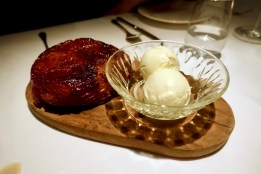 Tarte tatin with crème fraiche ice cream