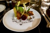 Dalesford Salad - Our vegetables prepared several ways, whipped goats curd, honey reduction and ice lettuce