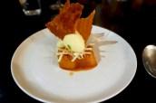 English Cox Apple, Caramel, Custard Ice Cream and Crispy Puff Pastry