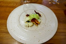 Wood fired potato, cobnut, parmesan, truffle