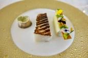 Turbot, Leek, champignon de Paris, Champagne