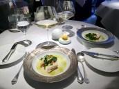 Dover sole, fennel, sea vegetables, minestrone, shellfish, lovage