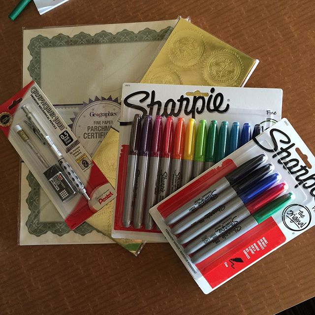 First stationery buy here...