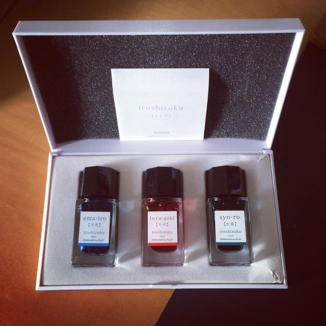 Bought this set of small ink bottles from a gift certificate, I got from my colleagues for birthday! #ink #pilotpen #iroshizuku #birthday