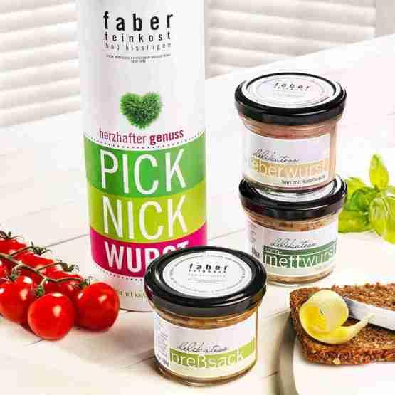 Genusswerk Faber Feinkost Pick-Nick-Wurst