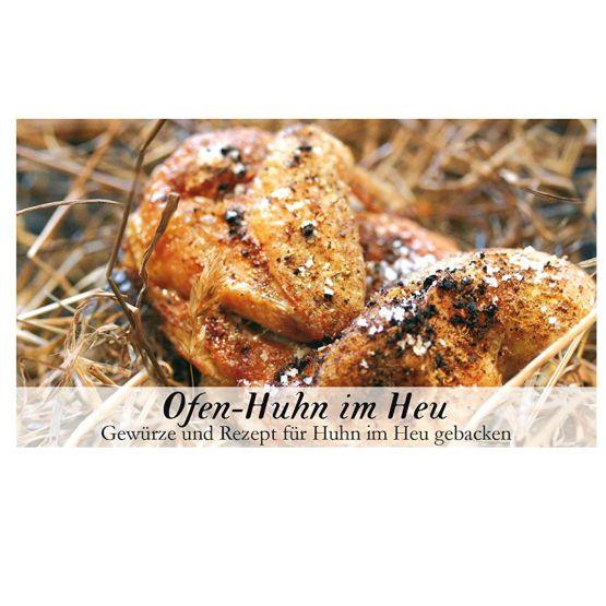 Genusswerk Feuer & Glas Ofen Huhn im Heu deckel