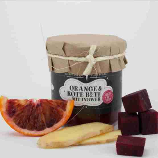 Genusswerk Hakuna Matata Fruchtaufstrich Orange Rote Beete Ingwer