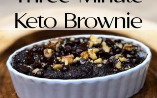 The best three minute keto brownie