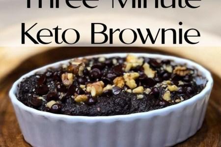 The best three minute keto brownie