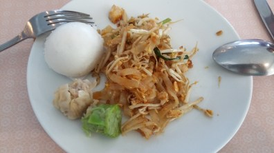 One last pad thai for breakfast before leaving Thailand