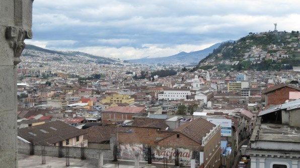 View of the Angel of Quito and Centro Historico