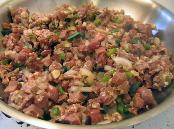 Cooking Meat Mixture