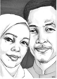 ATC of a young couple