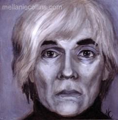 "Andy Warhol 8"" X 8"" acrylic on board"