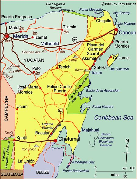 Map Of Cancun Mexico And Surrounding Area : cancun, mexico, surrounding, State, Quintana, Cancún,, Cozumel, Tulum, Mexico,, Geography, Mexico