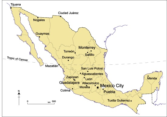 April 2013 GeoMexico the geography of Mexico