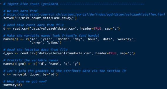 Einlesen von Daten im CSV-Format