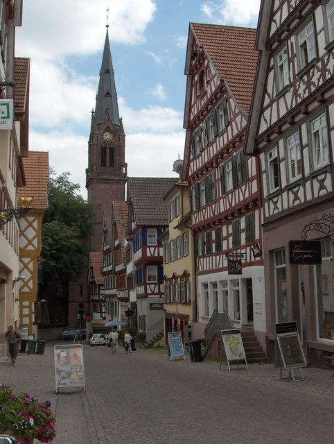 Calw Altstadt mit Stadtkirche MGRS 32UMU8095