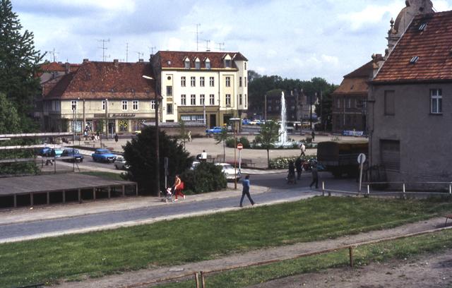 Marktplatz EberswaldeFinow DDR MGRS 33UVU2054