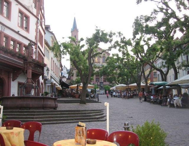 Marktplatz  Weinheim MGRS 32UMV7688  Geograph Deutschland