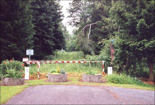 Mglitz Schlagbaum an der deutschtschechischen Grenze