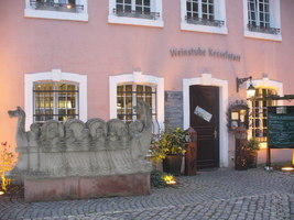 Abendstimmung bei der Weinstube Kesselstatt Trier Evening Mood at the Kesselstatt Wine Inn