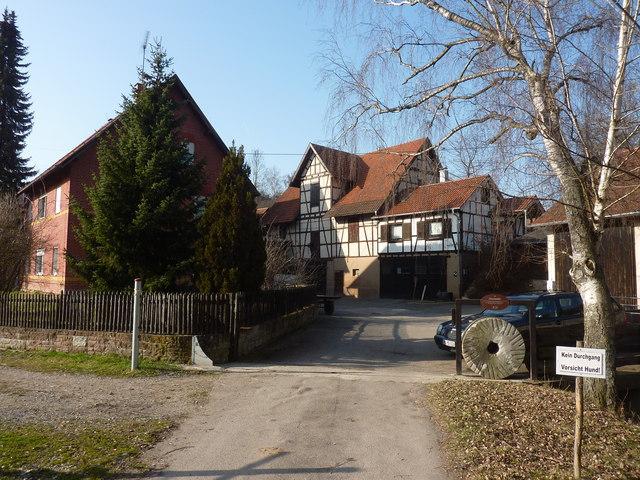Die Fleischmhle zwischen Ditzingen und Leonberg MGRS